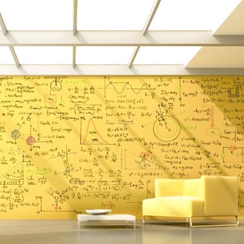 Whiteboardfärg Transparent Gul vägg