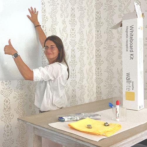 Wallrite Whiteboard Kit för hemmakontoret